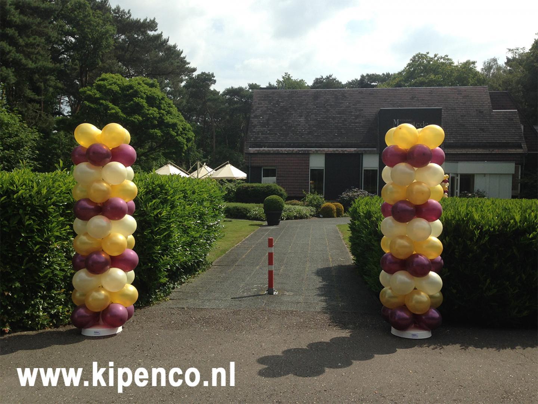 bijzondere ballonnen feest ingang