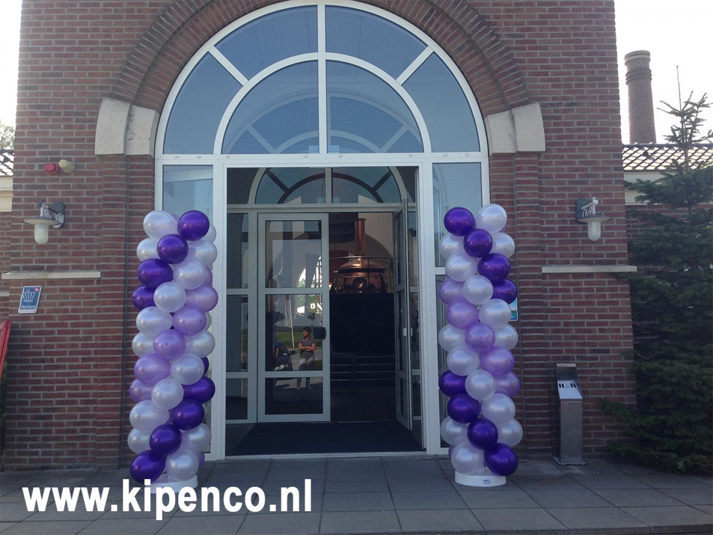 entree bruiloft paars lila ballon