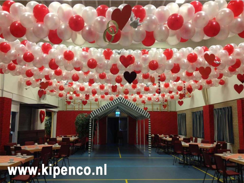 plafond ballon rood wit