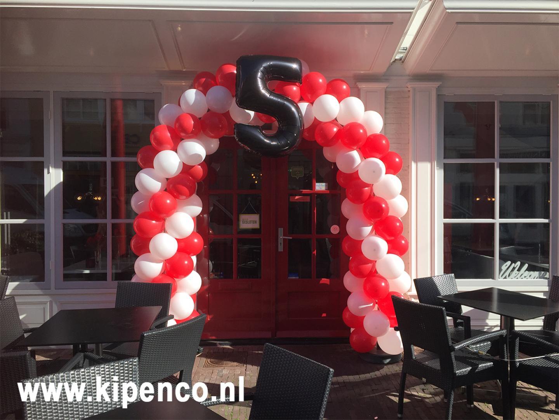 boog cijfer jubileum ballon