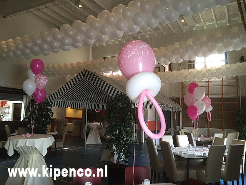 ballon geboorte kraamfeest speen