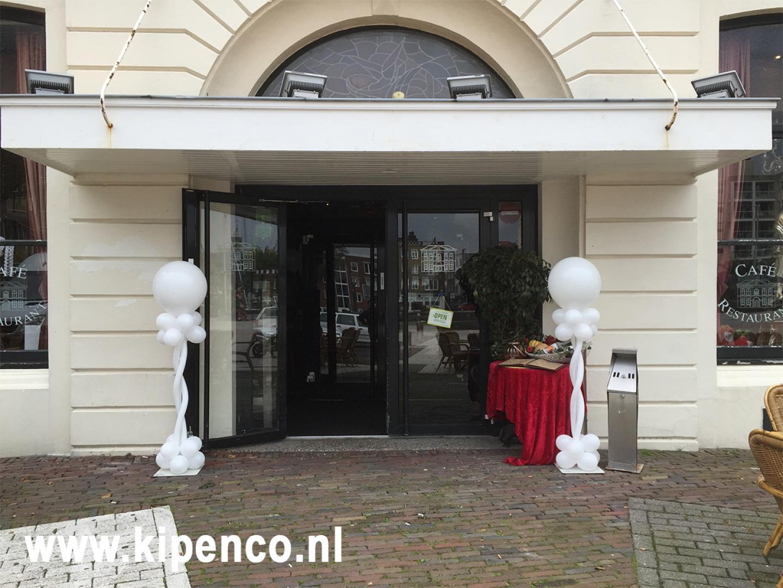 ballon bruiloft wit