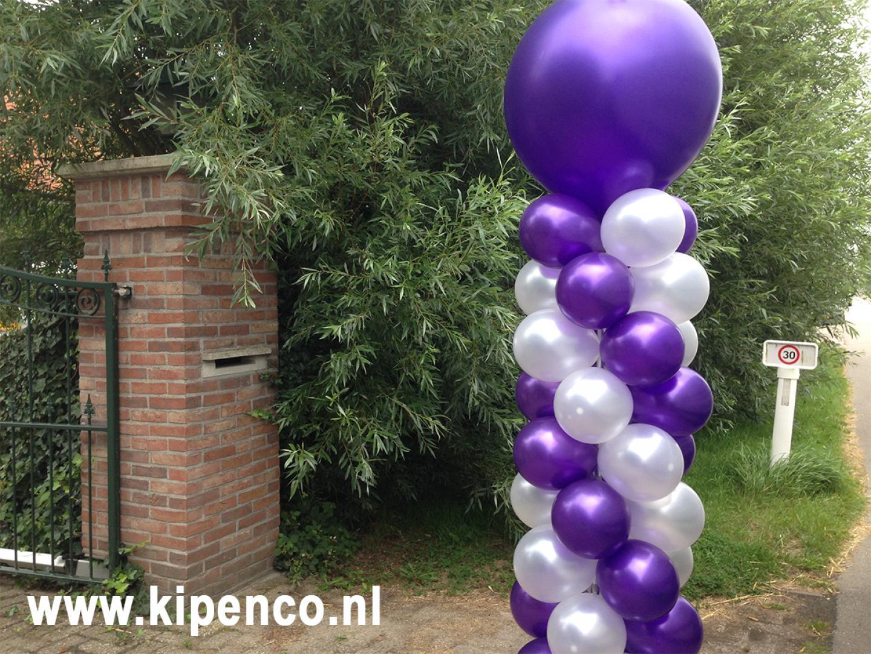 pilaar topballon metallic feest